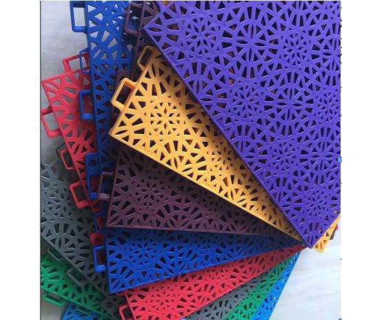 硬质幸运星花纹专业悬浮地板悬浮拼装运动地板
